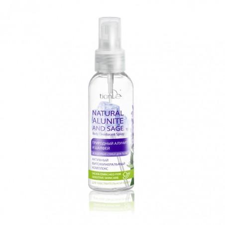 "Body deodorant spray ""Natural alunite and sage"" 100ml"