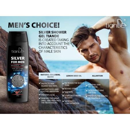 Men's shower gel with silver 250g