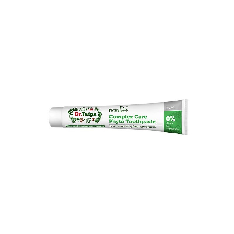 Herbal Toothpaste   Prevents Gum And Cavities Problems, Dr. Taiga, 75ml, tiande 65905